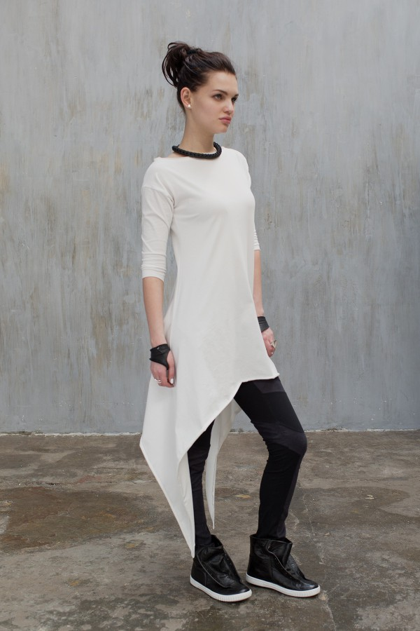 Tunic Eva Basic Blanch