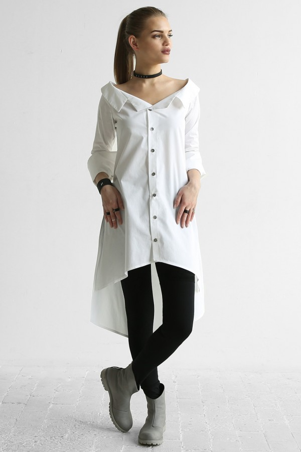 Shirt Desire Cut White