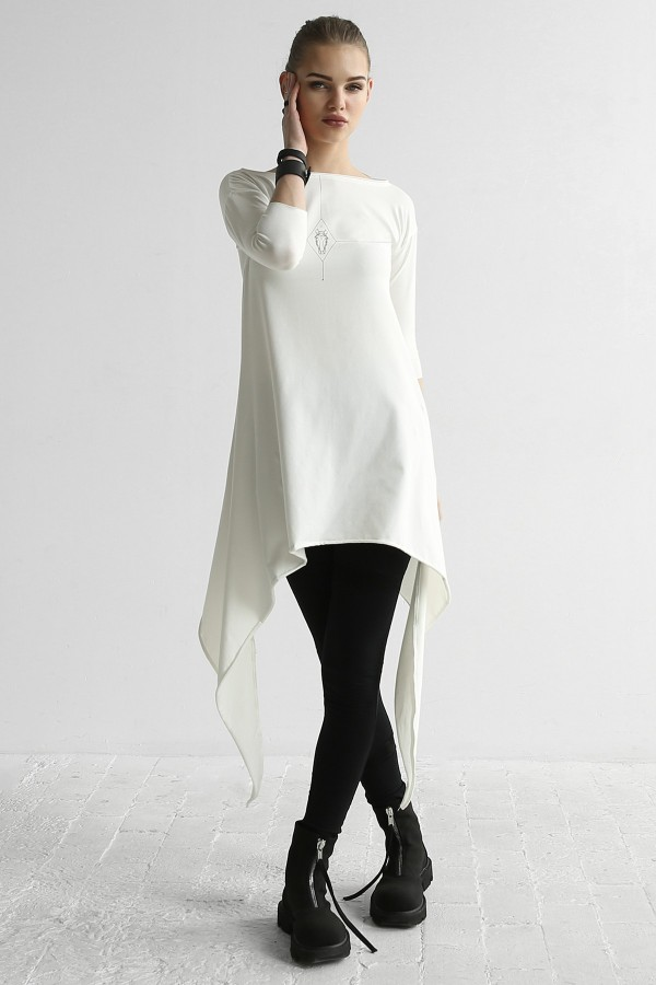 Tunic Eva Moon Horse White