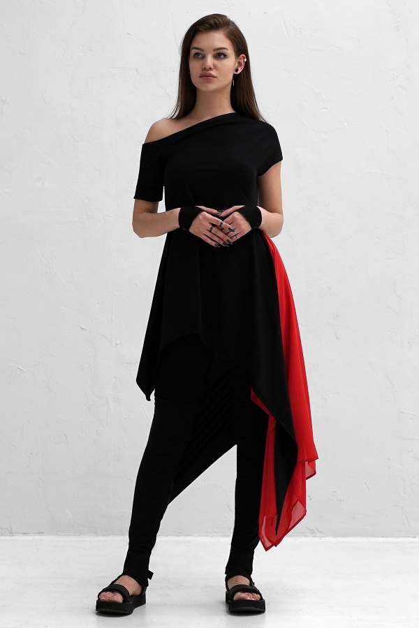 Dress Aurora Dark Scarlett